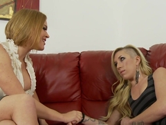 Exotic pornstars Maia Davis, Krissy Lynn in Incredible Blonde, Blowjob adult movie