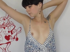 Horny natural tits Lycia showing sexy beautiful downblouse