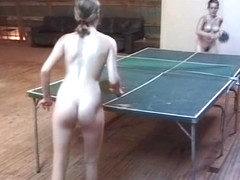 Oiled table tennis nude