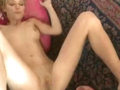 Teens Nicole Ray and Tanner Mayes lick skinny pussies