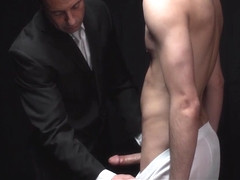 MormonBoyz - Young boy cums while being fucked