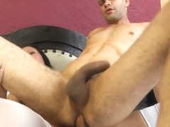 Cute shemale fucks his ass