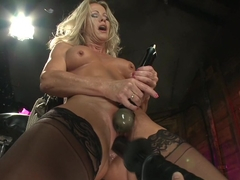Horny milf, fetish sex scene with exotic pornstar Simone Sonay from Fuckingmachines