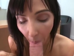 Snazzy dusky mom Diana Prince comes with a blowjob