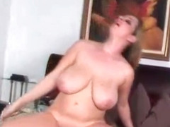 Busty Babe April McKenzie Rides Cock