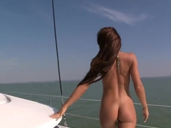 Sailing fuck with big boobed Christina Bella