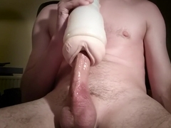 Creampied Angela White's fleshlight. THROBBING DICK! HUGE LOAD!