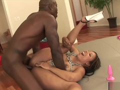Angel Black Gets Two Black Boners