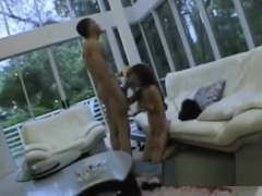 sexy horny babe charmane star enjoys sucking on her bf's huge BBC!!