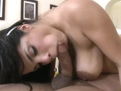 Winsome buxomy latina Savana Ginger got hard hammered