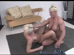 muscular milf wrestle with her younger friend