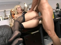 Donna Bell takes a break at work to take his pecker in her cooter