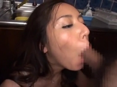 Amazing Japanese model Haruna Saeki in Fabulous Stockings, Blowjob JAV movie