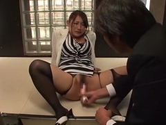 Fabulous Japanese girl Chiharu Nakai in Amazing Office, Masturbation JAV video