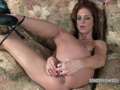 Excited mature I'd like to fuck Autumn Bodell bonks her cookie with a toy