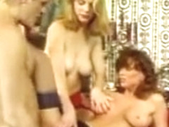 Two girls in sexy stockings gets fucked