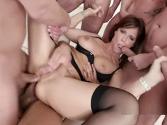 LegalPorno Trailer - 7on1 DAP gangbang with Syren De Mer