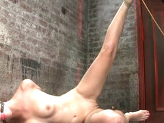 Hot Blond Is Bound  Made To Strip. Foot Tortured, Tickled,  Made To Cum Over  Over. - HogTied