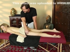 Teen creamed by masseur