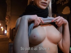 Busty amateur Karol Lilien sex for cash