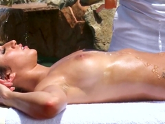 April O'neil enjoys in hot massage by Keiran Lee