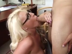 Bonny golden-haired MILF Sadie Swede is making a perfect Blowjob