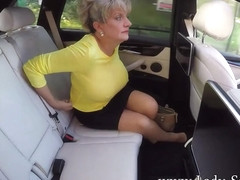 Lady Sonia masturbates while driving around town