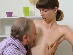Sultry Schoolgirl Is Seduced And Drilled By Her Aged Schoolt