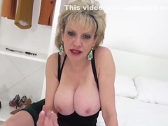 Adulterous English milf lady Sonia displays her monster tits