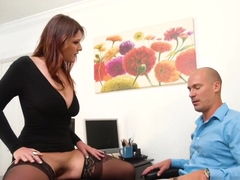 Hot Busty Secretary Gets Fucking In The Office