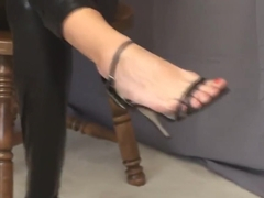 Suburban Sensations - Missy ballbusting in different shoes