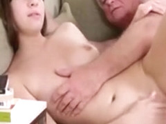 Shameless Teen Gets Her Young Pussy Gangbanged By Old Guy
