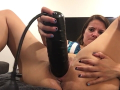 playing with Shane Diesel dildo and inflatable
