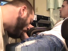 Big Cock Blue Jeans Blow Job Str8ThugMaster Uses Faggot cum dump mouth gay