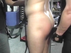 Kinky Gay Man In Latex Sex Shop Gets Anally Fucked