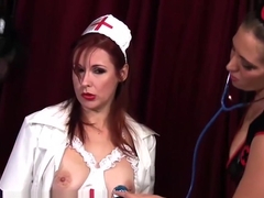 Naughty Nurses Samantha Grace Chrissy &amp_ Anastasia Go Wild!