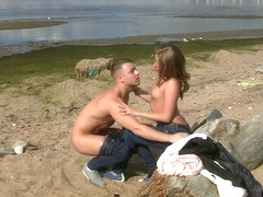 Sofi Goldfinger - Passionate first date sex on a beach