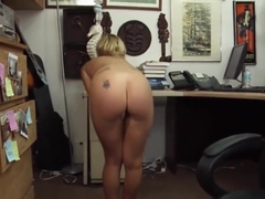 Pawn Shop Owner Offers Cash To Fuck Cute Blonde Teenage Babe