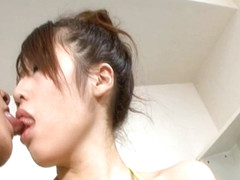 Arisa Aoyama gets the dick to smash her cunt on cam