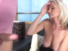 Blonde Mature With Big, Saggy Tits Is Riding A Rock Hard Cock And Enjoying It A Lot