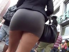 Upskirt nice ass lady