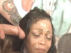 Black Ghetto Whores Gagging And Spitting During Face Fucking
