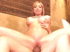 Milf with hot big boobs in ejaculation porn scene