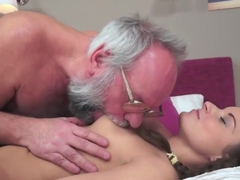 Amazing Teen Facialized By Old Man After Sex