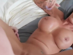 Mature woman with big milkings rides a cock lover...