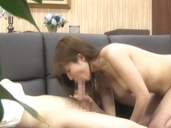 Mako Higashio naughty Asian milf in position 69 in the office