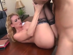 Tempting golden-haired English mom Blake Rose gets her ass abused
