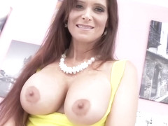 Syren De Mer is having rough sex with three horny guys at the same time