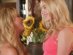 Cherie Deville and Kenna James are moaning while making love, because it feels so good