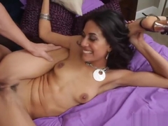 Beauteous Lyla Storm is giving a blowjob